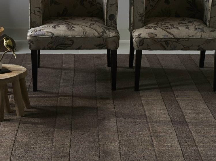 Handmade rectangular wool rug HAZAN CARPETS by EBRU