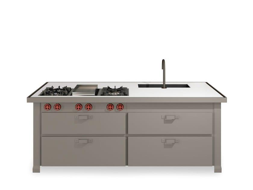 Lackierte Küche Mit Kücheninsel MINÀ HOME By Minacciolo