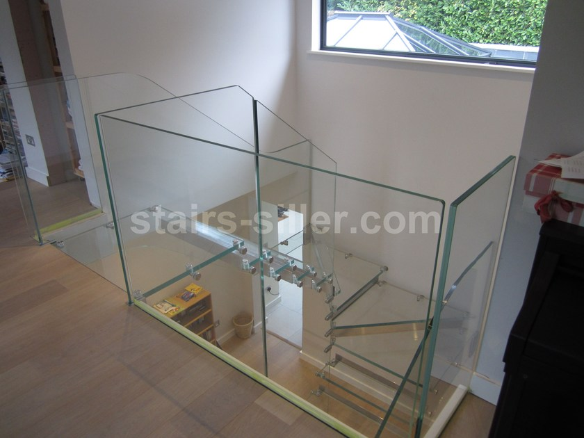 open glass stair for uk and us projects オープン階段 by siller treppen