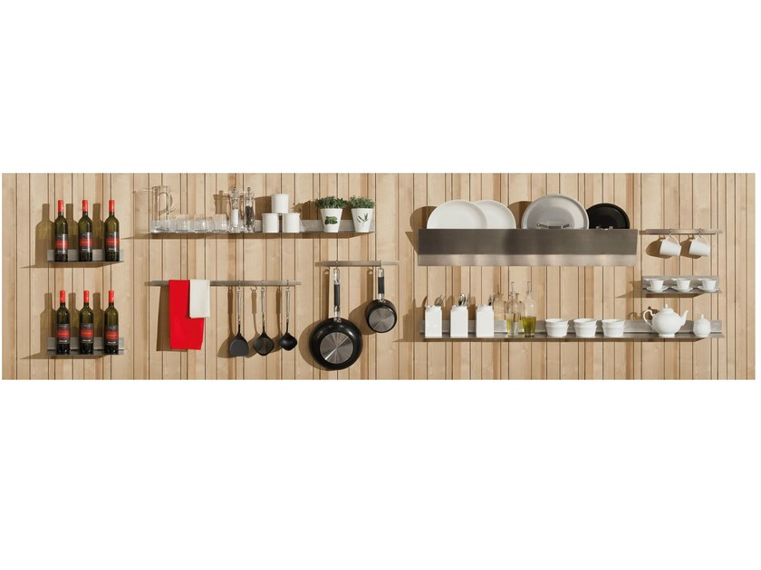 Fitted wooden Kitchen backsplash WALL-PLAY by Minacciolo