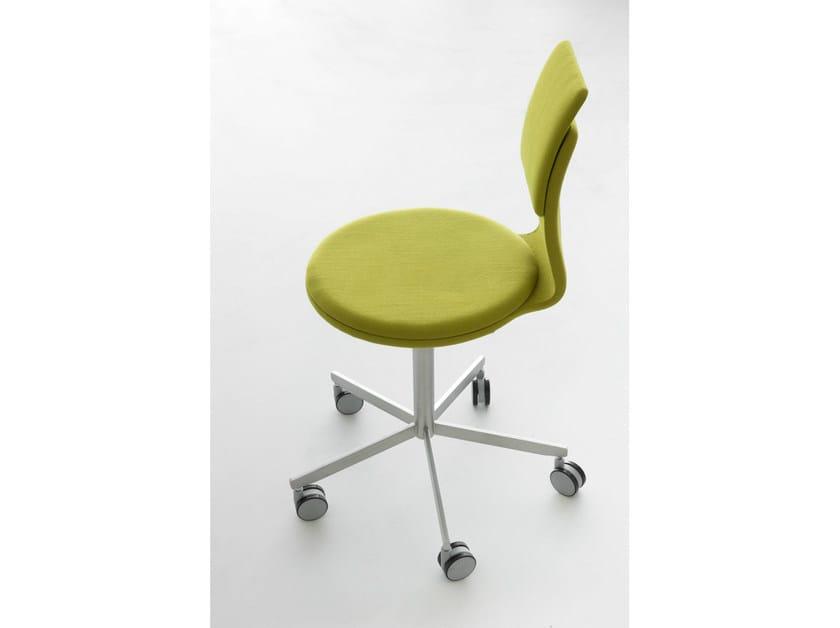 Sedia girevole a razze con ruote lab sedia lapalma