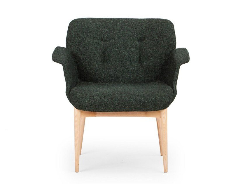 Fabric guest chair HIVE | Easy chair by True Design