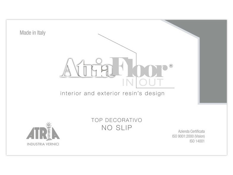 Non-slip treatment for flooring ATRIAFLOOR IN OUT TOP DECORATIVO NO SLIP by COLORIFICIO ATRIA