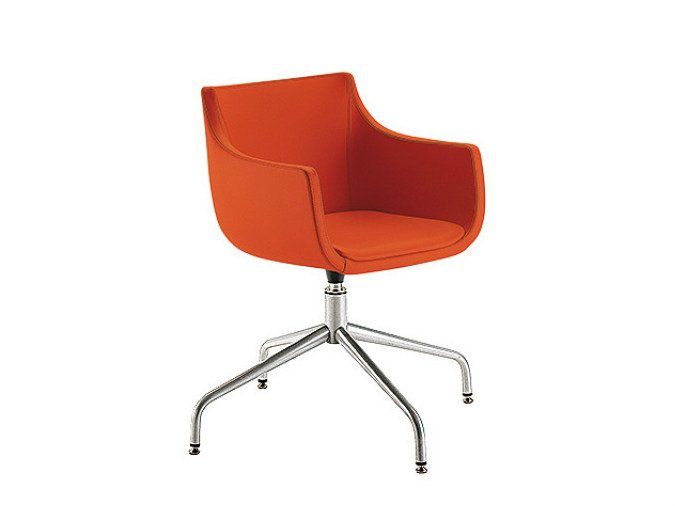 Swivel chair with 4-spoke base D&N PAD | Chair with 4-spoke base by Sesta