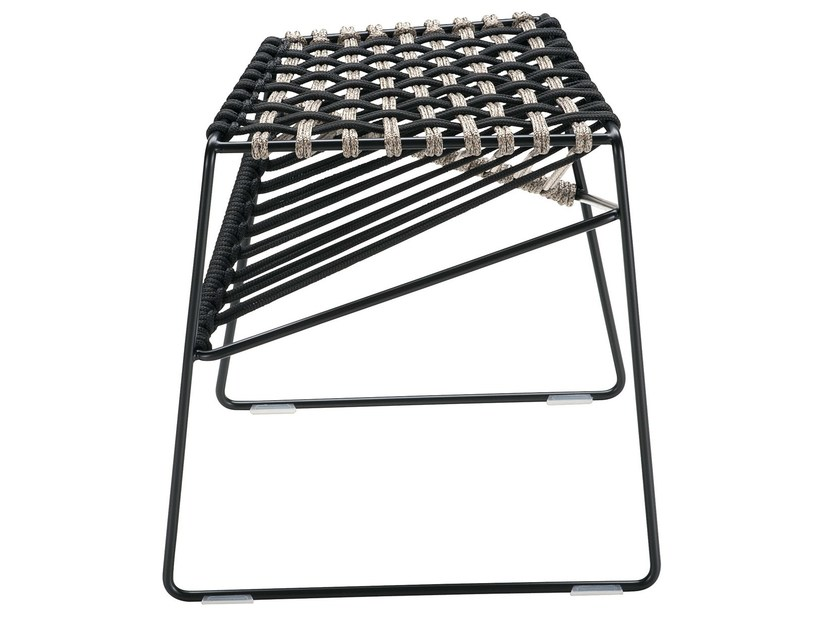 Low sled base stool TWIST 2287 by Zanotta