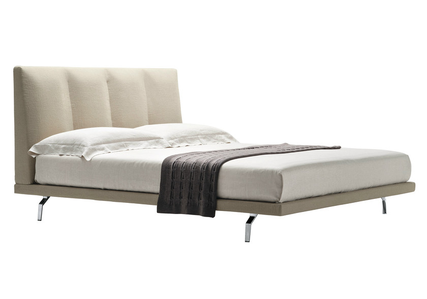 Double bed with upholstered headboard AGIO by Zanotta