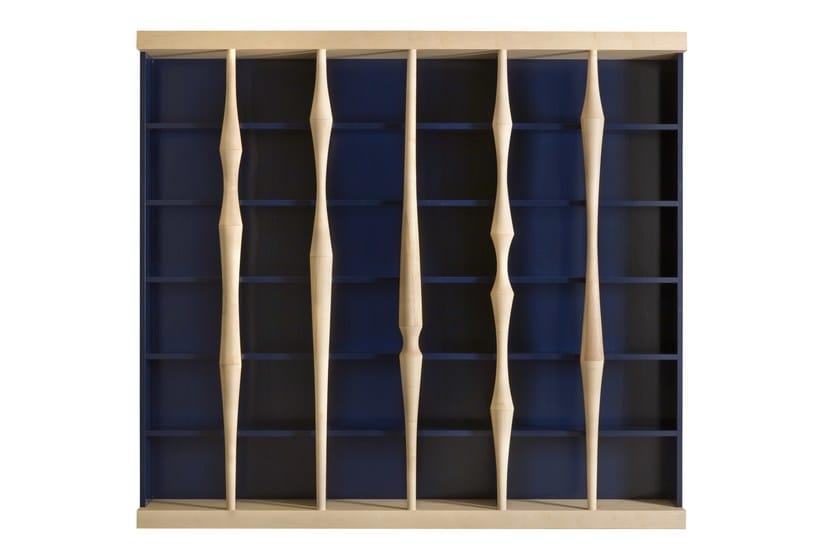 Freestanding wooden bookcase BERENICE | Bookcase by Morelato
