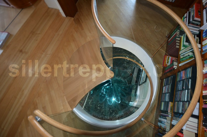 Helical Spiral staircase SKY SCREW, GLASS SPIRAL STAIRCASE DESIGN | Helical Spiral staircase by Siller Treppen