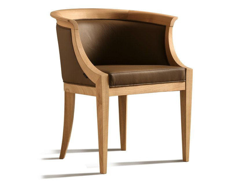 Upholstered leather easy chair with armrests ROBERTA | Easy chair by Morelato