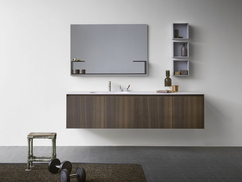 Wall-mounted vanity unit with drawers MOODE | Wall-mounted vanity unit by Rexa Design