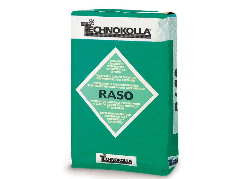 Skim coat and cementitious finish for plaster RASO by TECHNOKOLLA - Sika