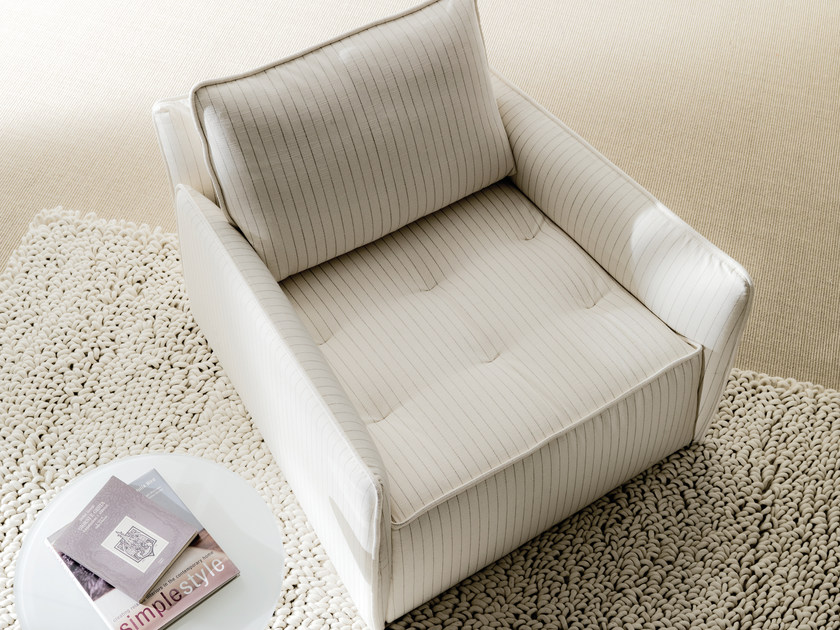Contemporary style upholstered armchair ANTARES   Fabric armchair by Bontempi