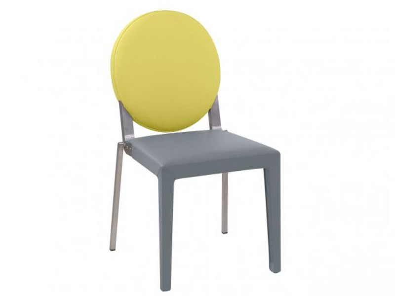 Grey oval chair ADULIS | Chair by GAUTIER FRANCE