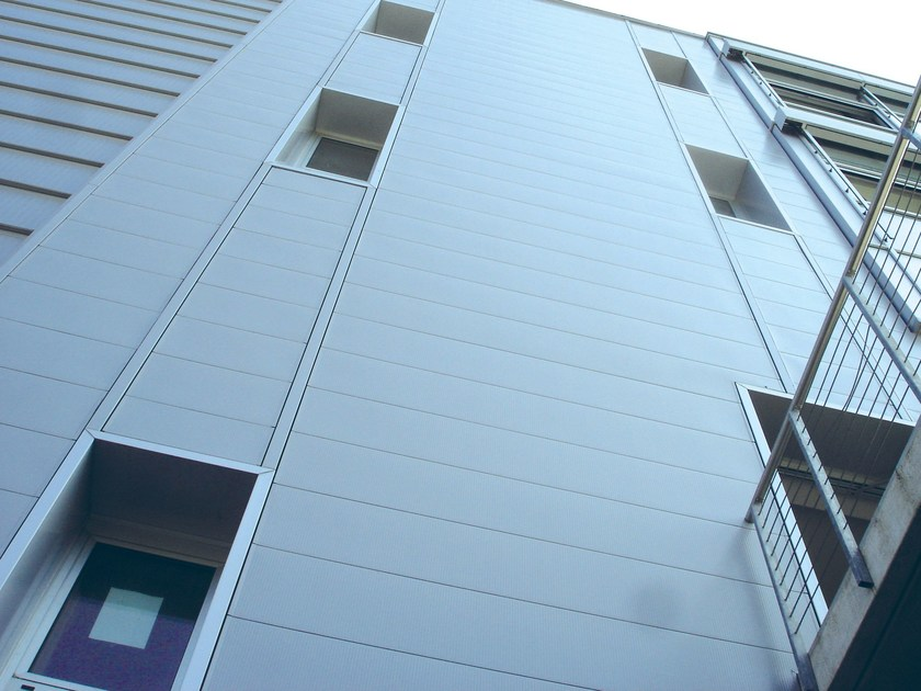 Metal sheet and panel for facade RIVERCLACK® AGORÀ by ISCOM