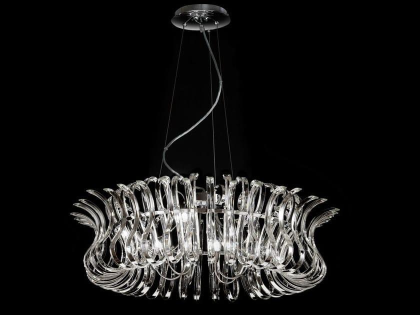 Crystal chandelier WAVE | Chandelier by Metal Lux