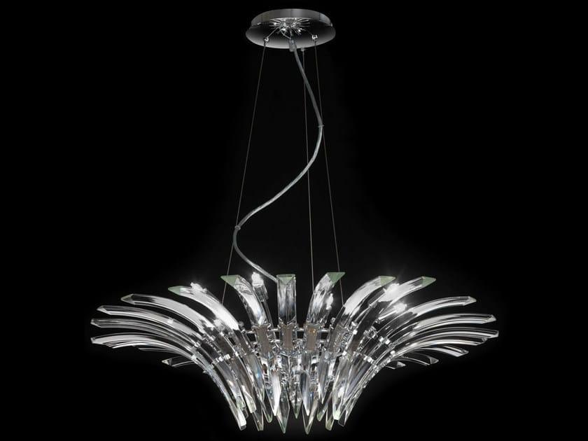 Crystal chandelier SURF | Chandelier by Metal Lux