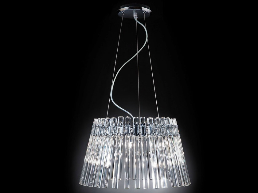 Crystal chandelier CIRCLE | Chandelier by Metal Lux