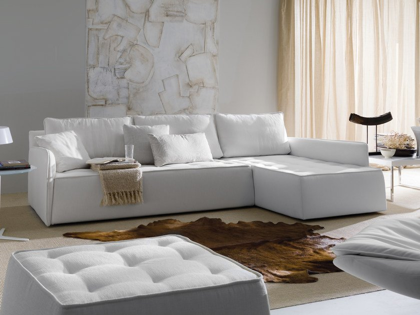Sofa with removable cover ANTARES | Corner sofa by Bontempi
