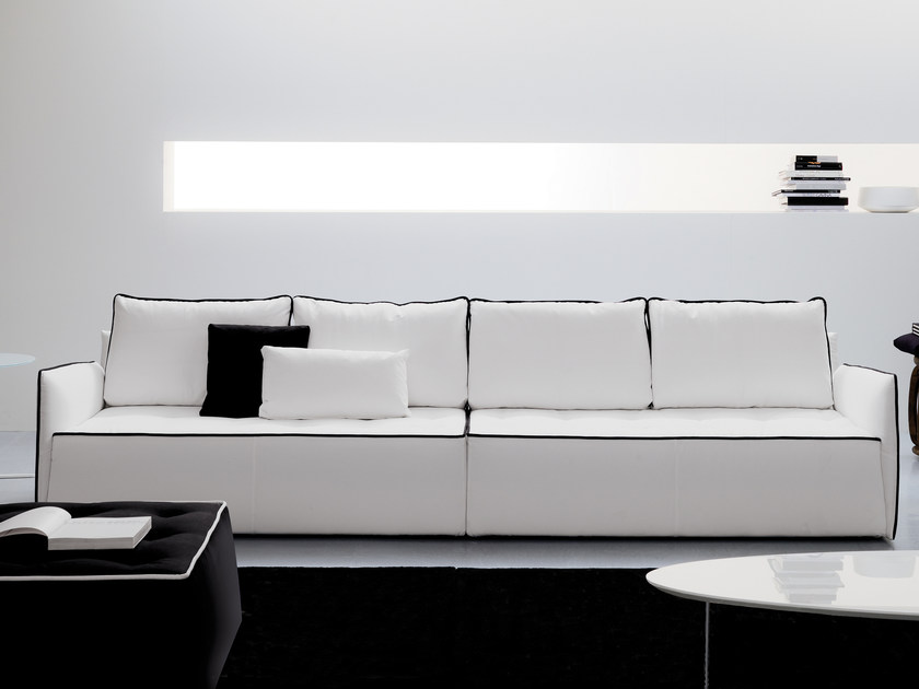 Sofa with removable cover ANTARES | 4 seater sofa by Bontempi