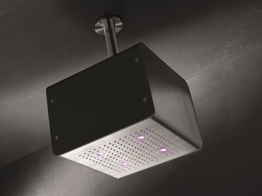 Ceiling mounted overhead shower for chromotherapy CUBO BIG by GEDA