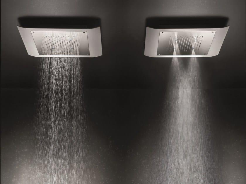 Ceiling mounted 2-spray rain shower MACÒ | 2-spray overhead shower by GEDA