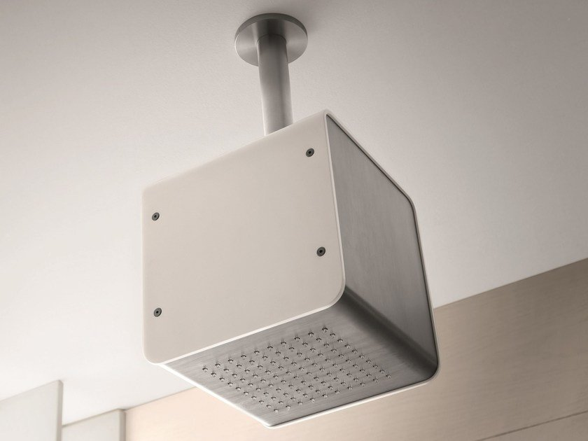 Ceiling mounted rain shower CUBO SMALL by GEDA