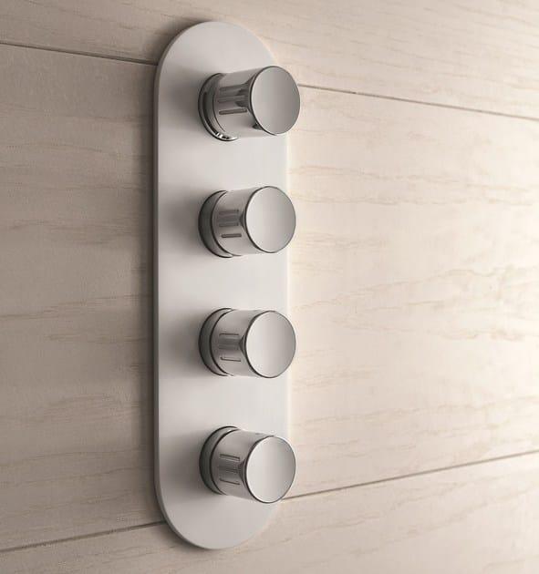 4 hole chromed brass shower mixer MACÒ | 4 hole shower mixer by GEDA