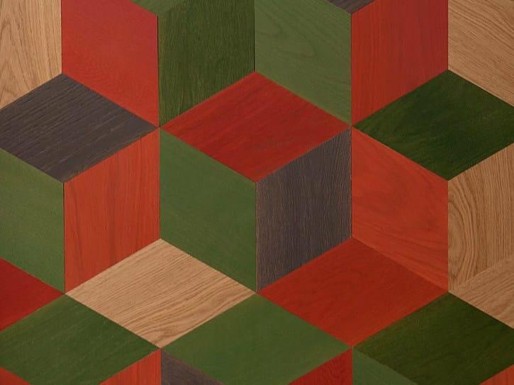 Oak wall/floor tiles CUTS by MENOTTI SPECCHIA