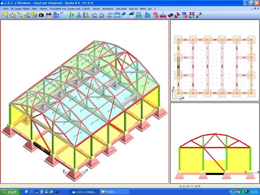 Foundation calculation (plinth, slab, ground beam) / Pile and micropile calculation CDP Win by STS