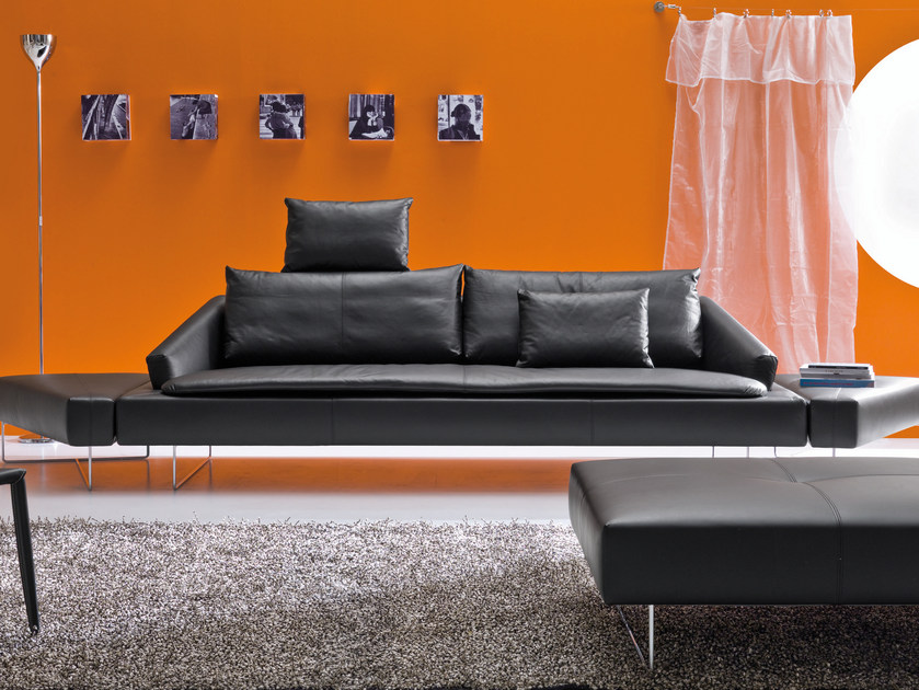 Sectional 3 seater sofa ITACA | Sofa with headrest by Bontempi