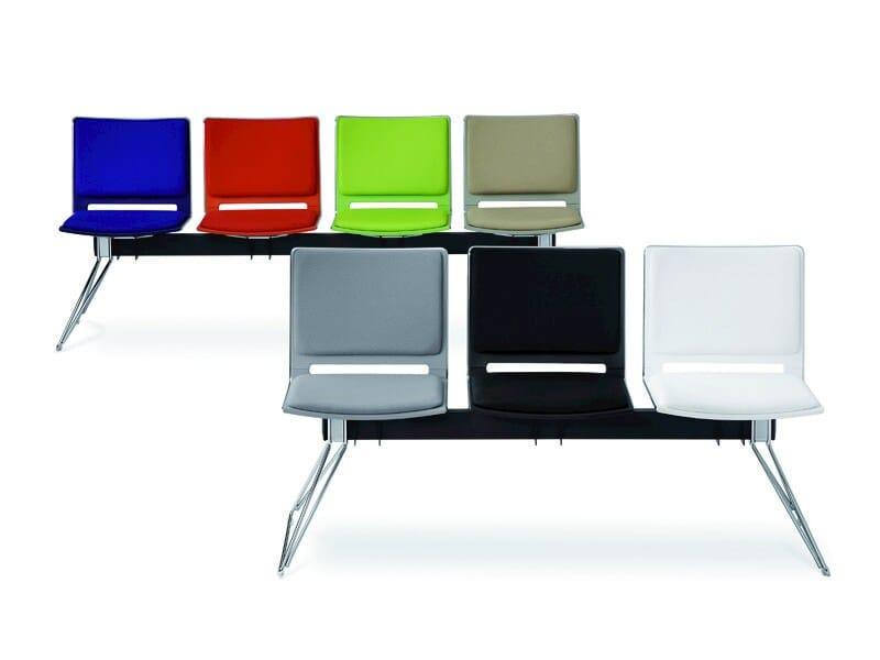Fabric beam seating FILÒ SOFT | Beam seating by Diemmebi