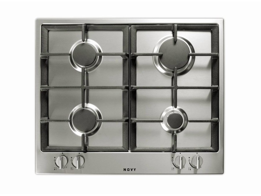 Gas stainless steel hob 1980 | Gas hob by NOVY