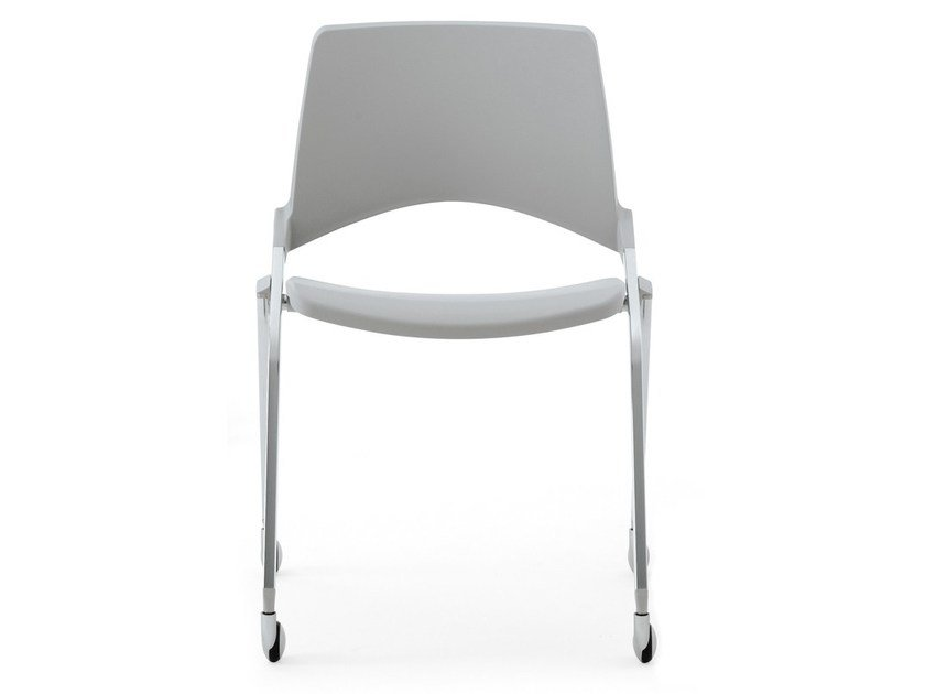 Folding plastic chair with casters KENDÒ PLASTIC | Chair with casters by Diemmebi