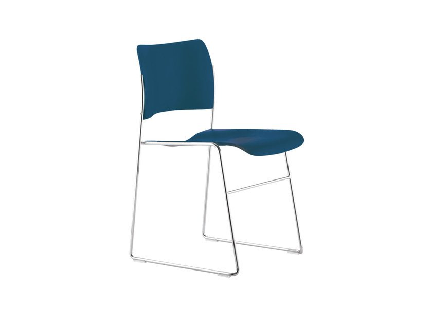 Sled base stackable chair 40/4 | Chair by Howe