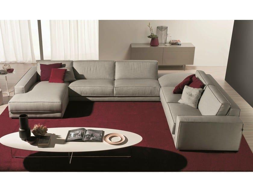 Fabric sofa SOFT   Corner sofa by Bontempi