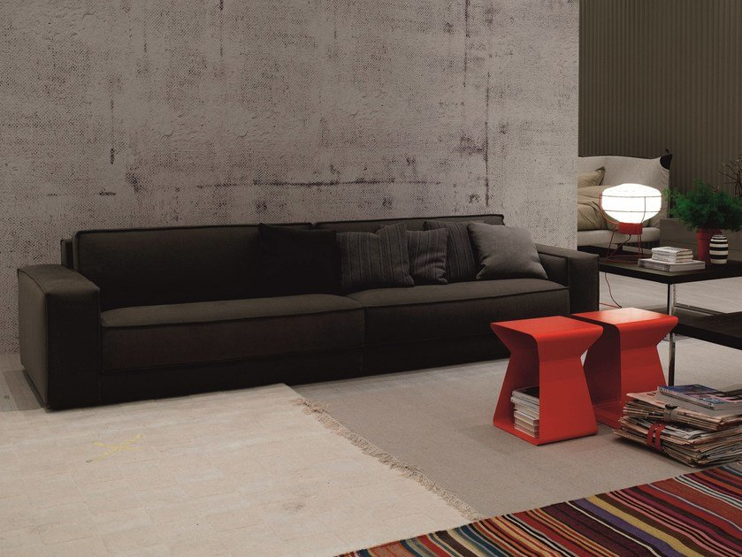 Fabric sofa SOFT | 4 seater sofa by Bontempi