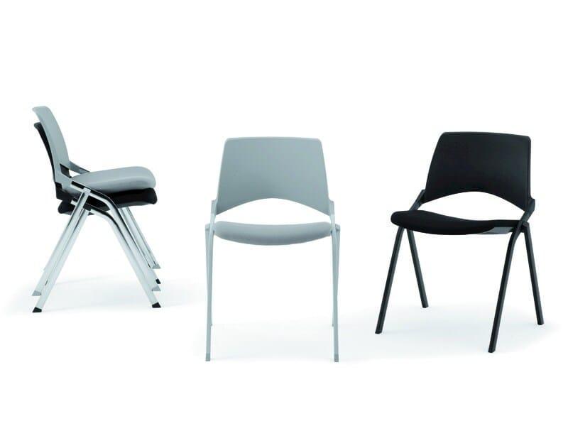 Stackable folding chair KENDÒ SOFT   Chair by Diemmebi
