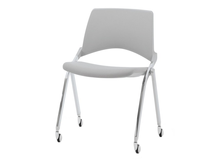 Folding chair with casters KENDÒ SOFT | Chair with casters by Diemmebi