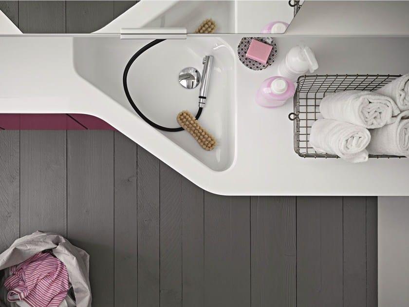 Single washbasin countertop IDROBOX | Washbasin countertop by Birex