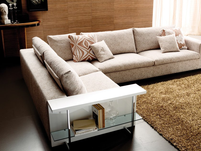 Sofa with removable cover LAZAR | Corner sofa by Bontempi