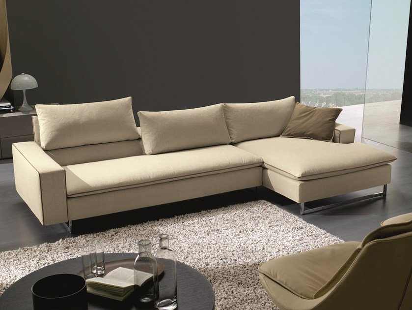 Sofa with removable cover PLANET | Corner sofa by Bontempi