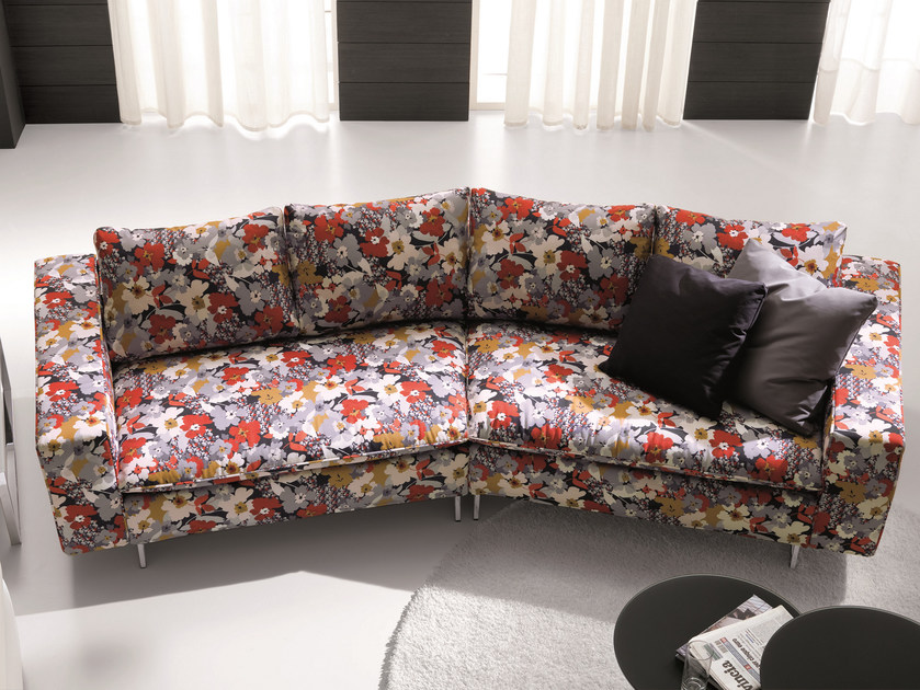 3 seater fabric sofa PLANET 160° by Bontempi