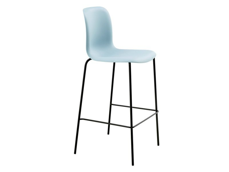 High plastic stool with back SIXE | Stool with back by Howe