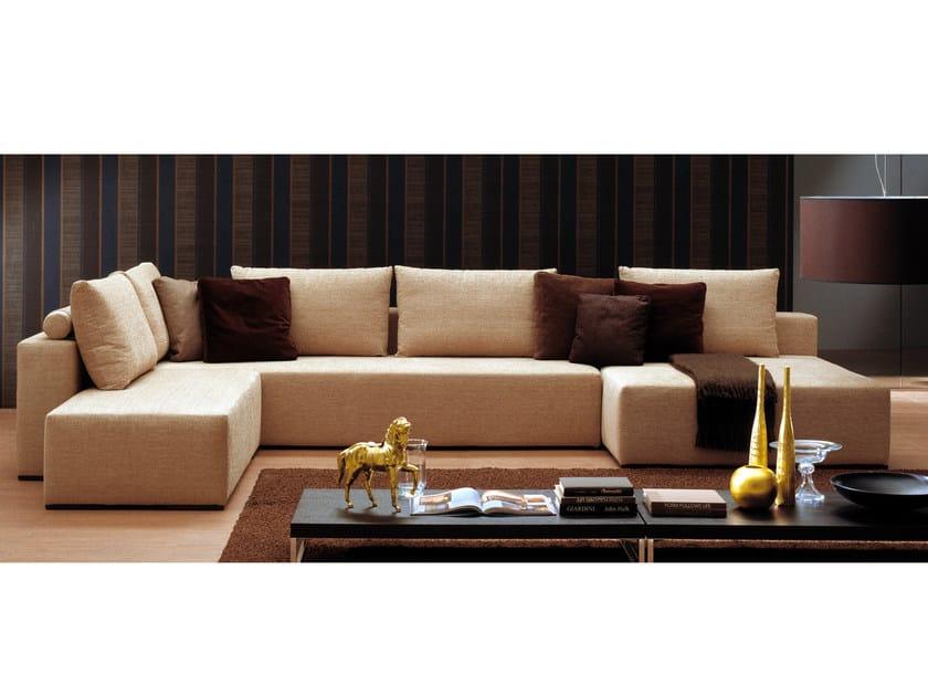 Fabric sofa POPPER | Corner sofa by Bontempi