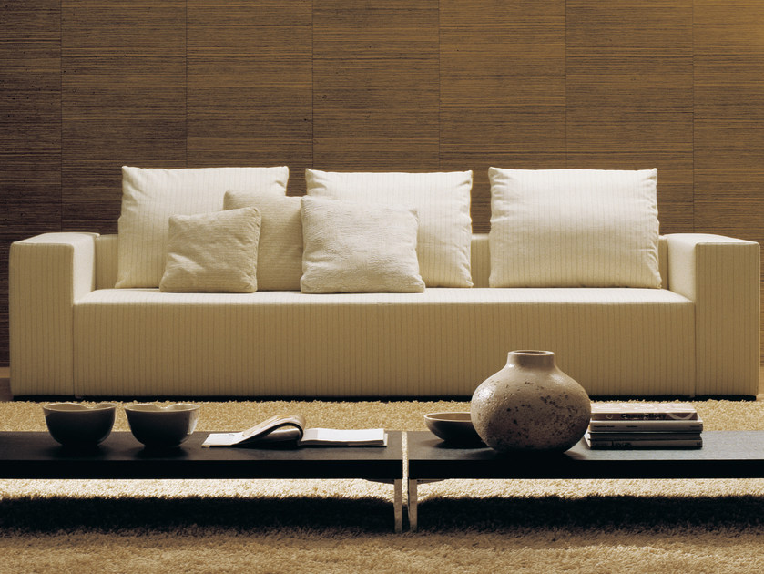 Sofa with removable cover POPPER | 3 seater sofa by Bontempi