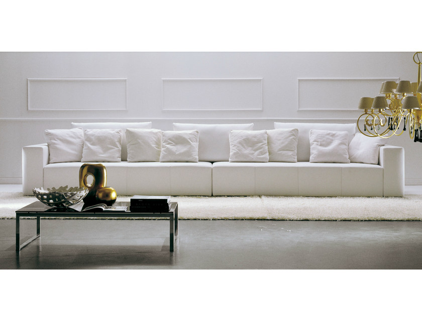 Sofa with removable cover POPPER | 6 seater sofa by Bontempi