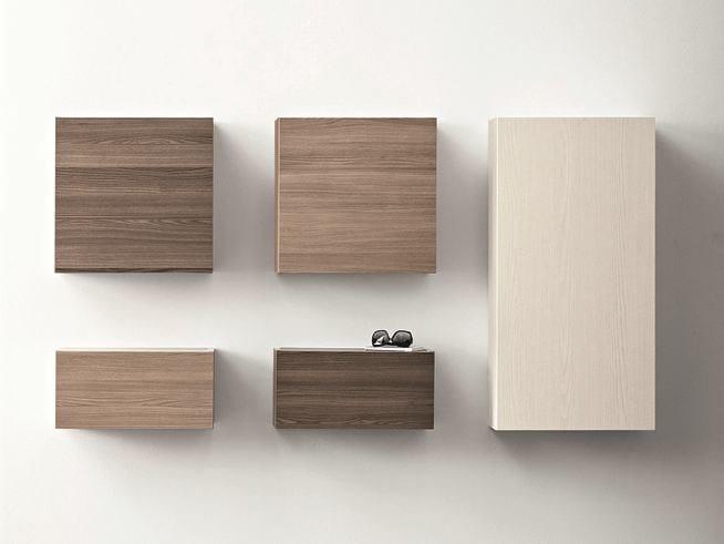Elm wall cabinet with door CINQUANTA | Elm wall cabinet by Birex
