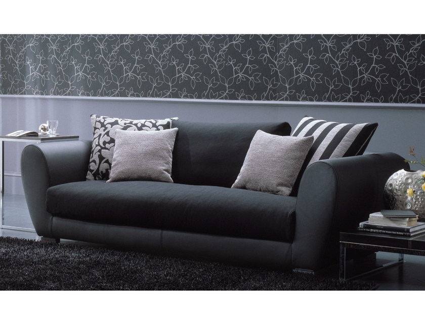 2 seater sofa TAYLOR | Leather sofa by Bontempi