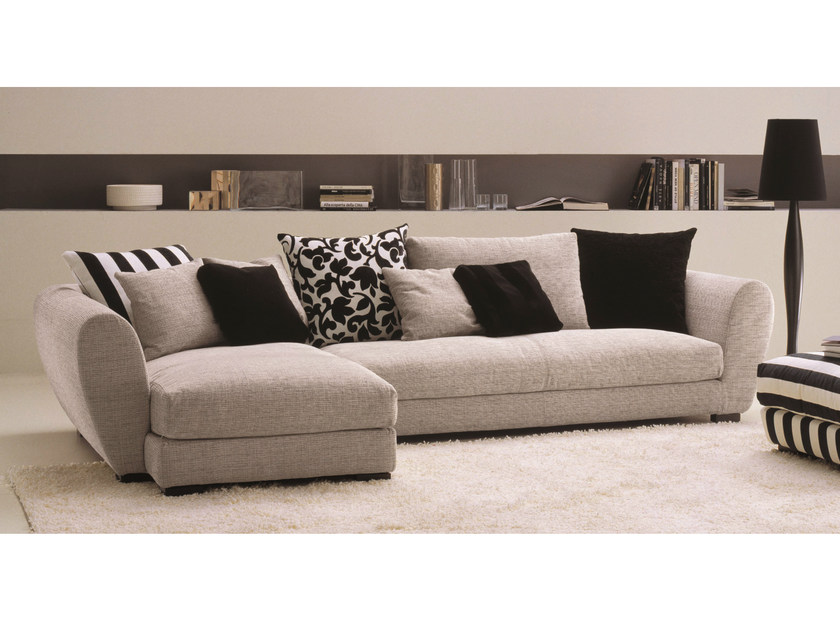 Sofa with removable cover TAYLOR | Corner sofa by Bontempi