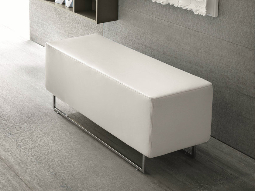 Upholstered leather bench Upholstered bench by Birex